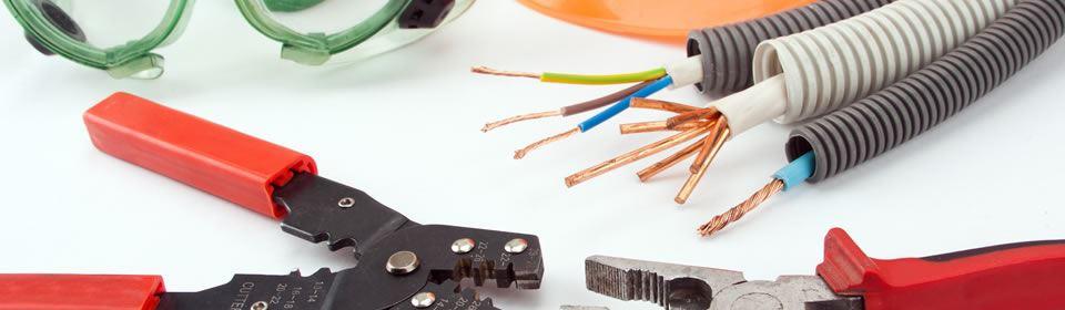 Gereedschappen van een elektricien