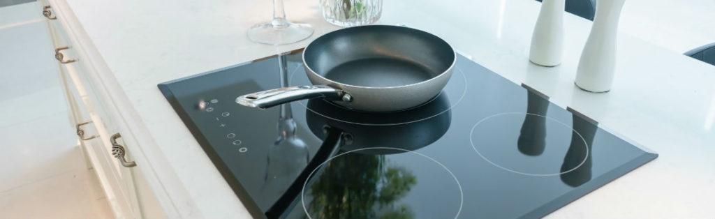 Een nieuw aangesloten inductie kookplaat in Nijmegen